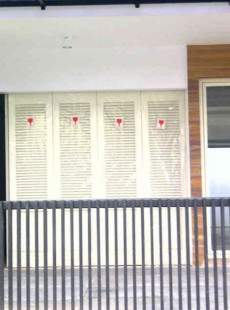 Pintu besi wina 4daun tikung 1 arah _ Dian istana Project_ minat PM...