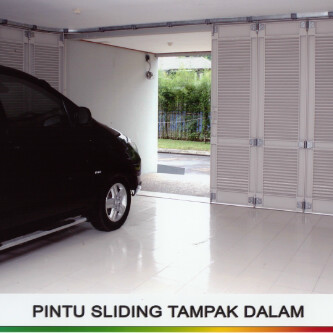 Pintu besi model minimalis